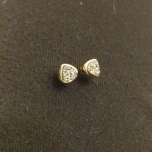 Gold Gray Druzy Studs from Nordstrom